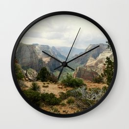 Above Zion Canyon Wall Clock