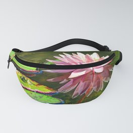 Water Lily and Frog Fanny Pack