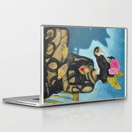 Sitting flamenco dancer Laptop & iPad Skin