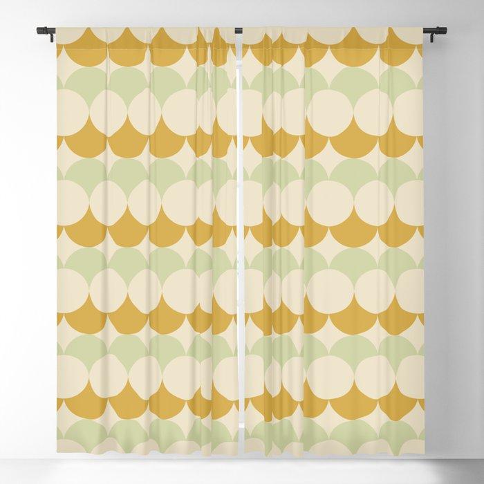 Retro Circular Pattern III Blackout Curtain