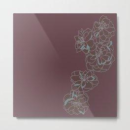 Mauve Singular Blossom Metal Print