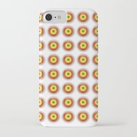 techno iPhone & iPod Cases featuring techno abstract by laika in cosmos