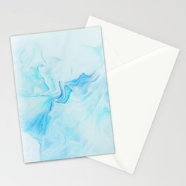 Light Blue Marble Watercolor Stationery Cards