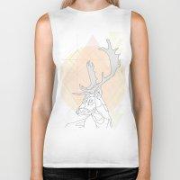 antlers Biker Tanks featuring Antlers by Heidi Banford
