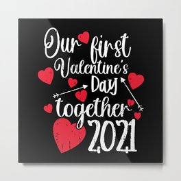 our first valentines day Metal Print