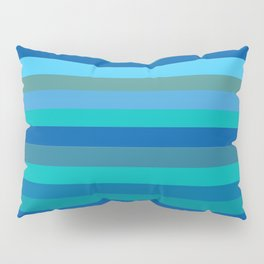 Blue Mod Stripes Pillow Sham