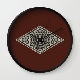 Damascus Diamond Wall Clock