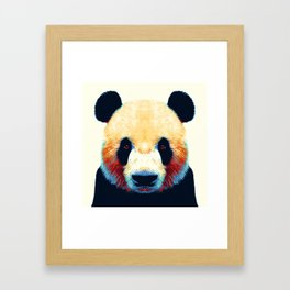 Panda - Colorful Animals Framed Art Print
