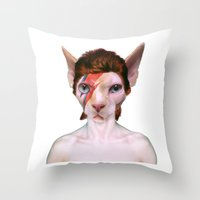 aladdin Throw Pillows featuring Aladdin Sphynx by sansfur