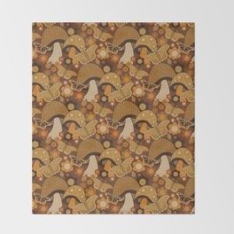 Mushroom Stitch Throw Blanket
