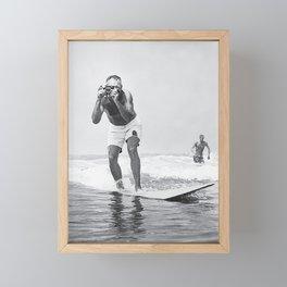 The Surfing Photographer Framed Mini Art Print
