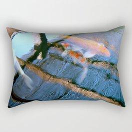 Koi Pond Reflections Rectangular Pillow