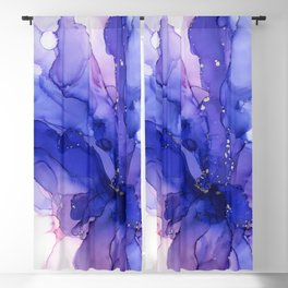 Ethereal Flower Abstract Ink Blackout Curtain