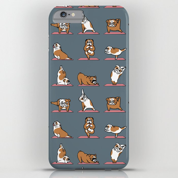 english bulldog yoga iphone case