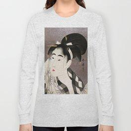 Kitagawa Utamaro, Japanese Woodblock Print Long Sleeve T-shirt