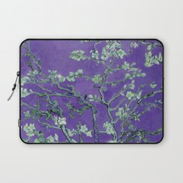 "Vincent van Gogh ""Almond Blossoms"" (edited purple) Laptop Sleeve"