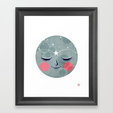 Supermoon Framed Art Print