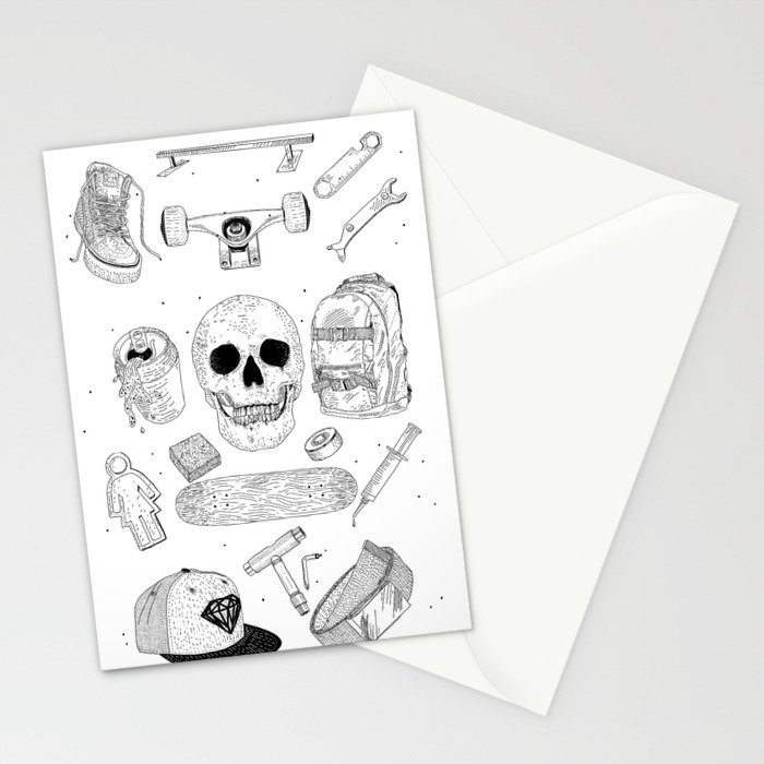 SK8 5tuff Stationery Cards