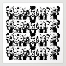 Narcissistic Collage  Art Print