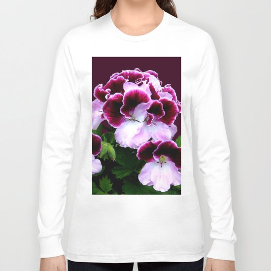 Pink, Purple, Flower Power Long Sleeve T-shirt