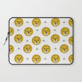 Lion cute pattern nursery kids geometric triangle animal safari Laptop Sleeve
