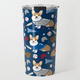 Corgi baseball themes sports dog fabric welsh corgis dog breeds gifts Travel Mug