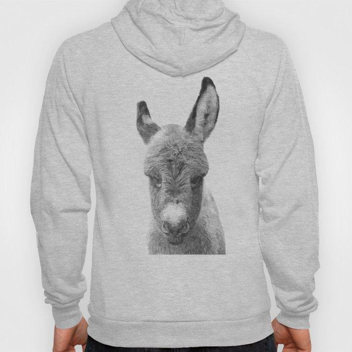 Black and White Baby Donkey Hoody