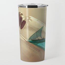 Boat in a bottle Travel Mug