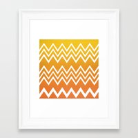 tequila Framed Art Prints featuring Tequila Sunrise by Color and Form