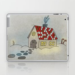 Winter Evening in Tiny Gingerbread House Laptop & iPad Skin