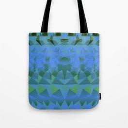 Geometric Meerkat Animal Pattern Bright Blue Green Tote Bag
