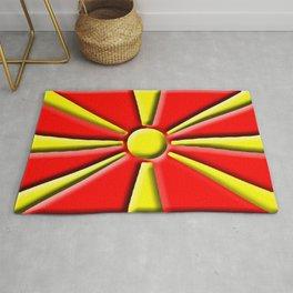 Macedonian 3D Flag Rug