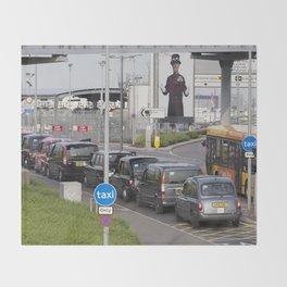 London Taxis Heathrow Airport Throw Blanket