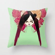 Ma Petite Japonaise v4 Throw Pillow
