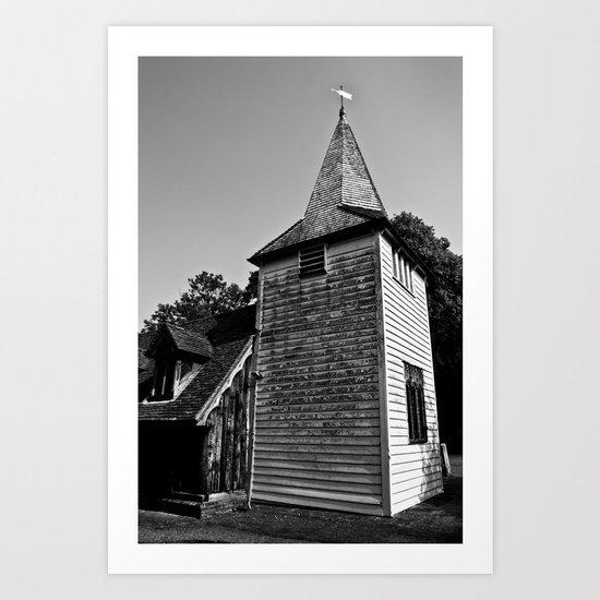 Greensted Church Art Print
