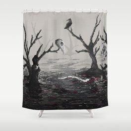 Lake of the dead Shower Curtain
