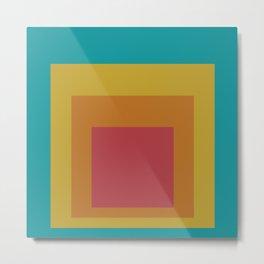 Block Colors - Teal Yellow Red Metal Print