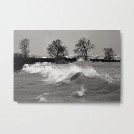 Lake Huron Waves Metal Print