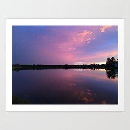 Pink and Purple Sunset Art Print