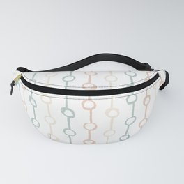 Polka Dot Stripe Pastel Pink Cream Green Fanny Pack