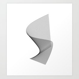"""""""Linear Collection"""" - Minimal Letter S Print Art Print"""