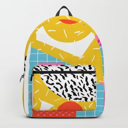 Homefry - abstract pattern memphis retro throwback 80s neon vibes trendy art decor Backpack