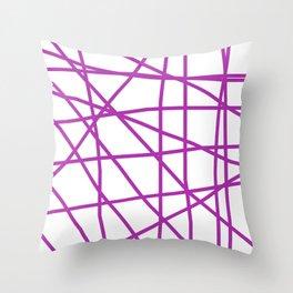 Doodle (Purple & White) Throw Pillow