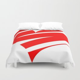Stylized Heart Duvet Cover