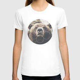Big Bear Buddy - Geometric Photography T-shirt
