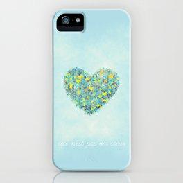 Ceci n'est pas un coeur iPhone Case