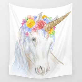 Unicorn Watercolor Painting Wall Tapestry