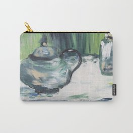 Greenery painting acrylic, abstract illustration painting,modern minimal Carry-All Pouch