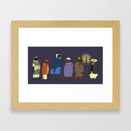 Victorian Penguins Framed Art Print
