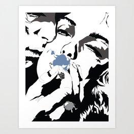 Smoky Kiss  Art Print